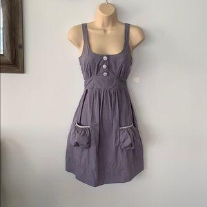Dresses & Skirts - Cotton apron gray dress size Small